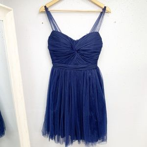 LULU'S Navy Blue Tutu Mini Dress S